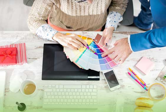 graphic designer working on print design Carlow