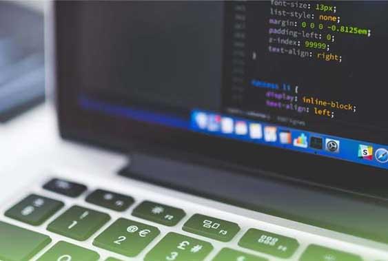 Website developer working on website maintenance service