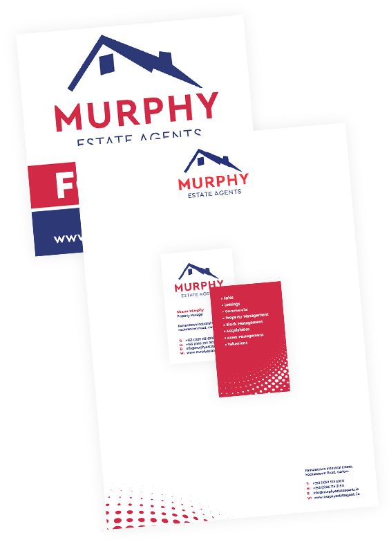 auctioneer stationery and logo design